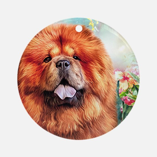 Chow Chow Painting Round Ornament