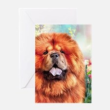 Chow Chow Painting Greeting Cards