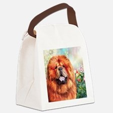 Chow Chow Painting Canvas Lunch Bag