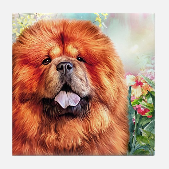 Chow Chow Painting Tile Coaster