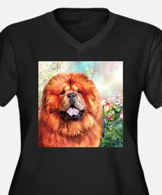 Chow Chow Painting Plus Size T-Shirt