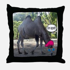 French camel Throw Pillow