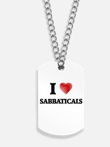 I Love Sabbaticals Dog Tags