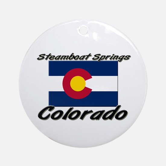 Steamboat Springs Colorado Ornament (Round)