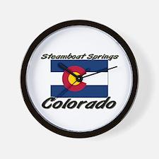 Steamboat Springs Colorado Wall Clock
