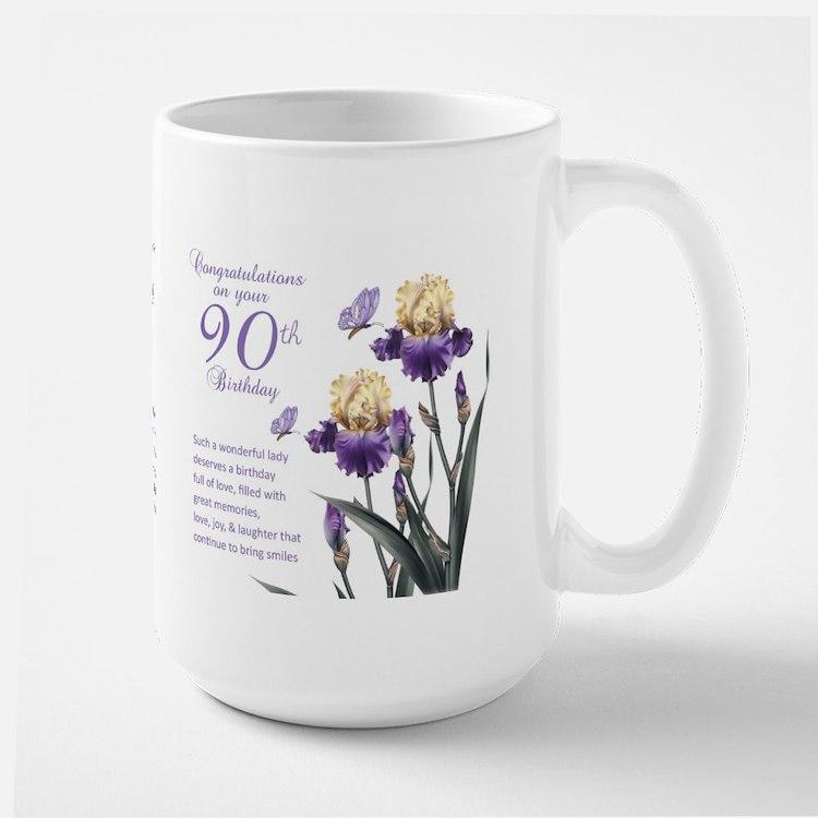90th Birthday Lily Gift Mug Mugs