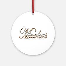 Cute Markus Round Ornament