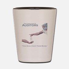 The Creation of Auditors Shot Glass