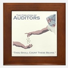 The Creation of Auditors Framed Tile