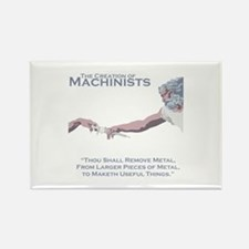 The Creation of Machinists Rectangle Magnet