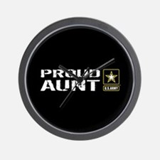 U.S. Army: Proud Aunt (Black) Wall Clock