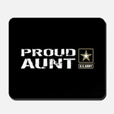 U.S. Army: Proud Aunt (Black) Mousepad