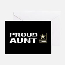 U.S. Army: Proud Aunt (Black) Greeting Card