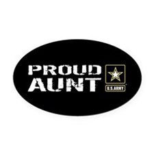 U.S. Army: Proud Aunt (Black) Oval Car Magnet