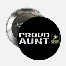 """U.S. Army: Proud Aunt (Blac 2.25"""" Button (10 pack)"""