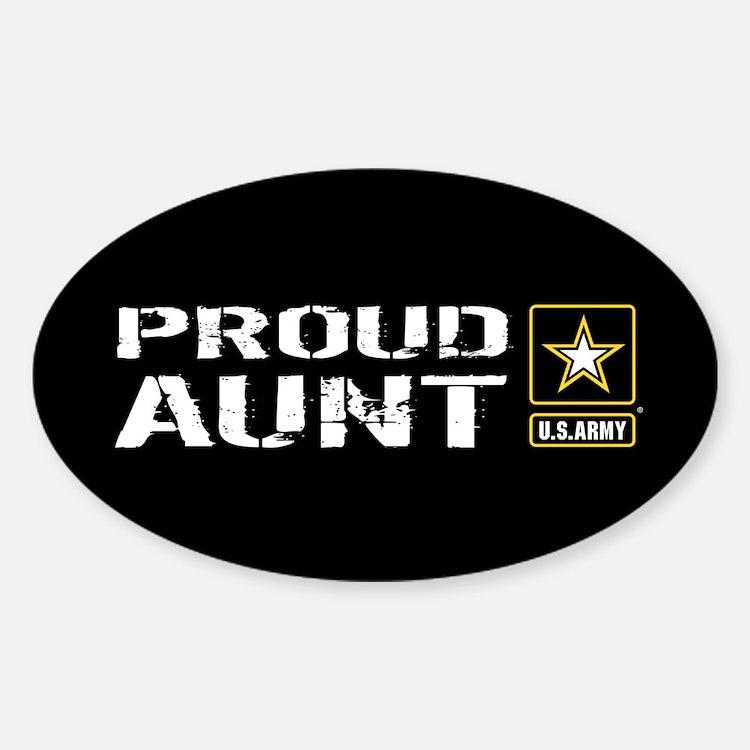 U.S. Army: Proud Aunt (Black) Decal