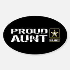 U.S. Army: Proud Aunt (Black) Sticker (Oval)