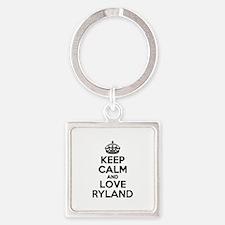 Keep Calm and Love RYLAND Keychains