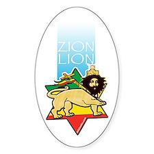 Haile Selassie I Oval Decal