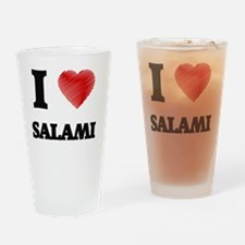 I Love Salami Drinking Glass