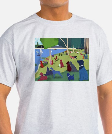 Sunday In The Park With Dogs Color Tee T-Shirt