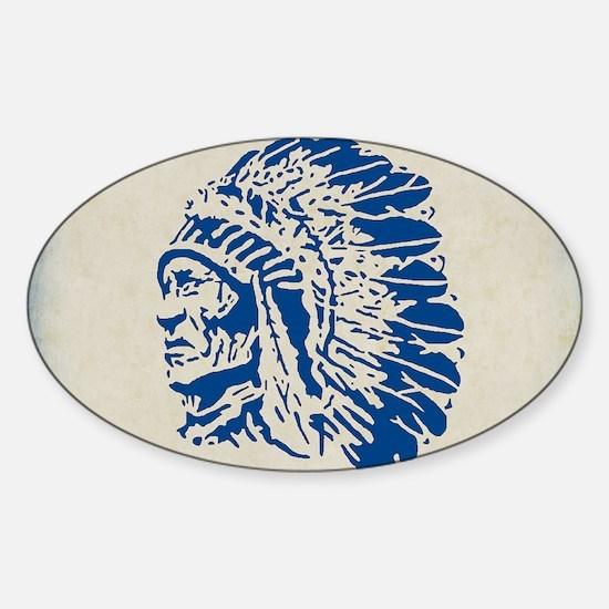 Funny Cherokee chief Sticker (Oval)