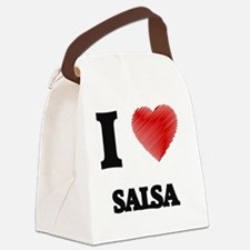 I Love Salsa Canvas Lunch Bag