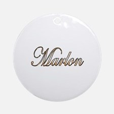 Cute Marlon Round Ornament