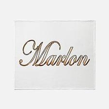 Gold Marlon Throw Blanket