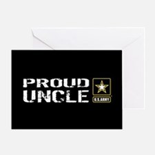 U.S. Army: Proud Uncle (Black) Greeting Card