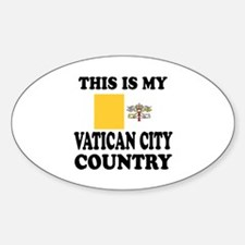 This Is My Vatican City Country Sticker (Oval)