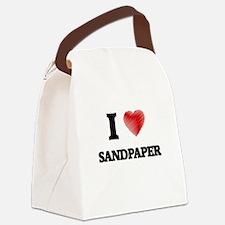 I Love Sandpaper Canvas Lunch Bag