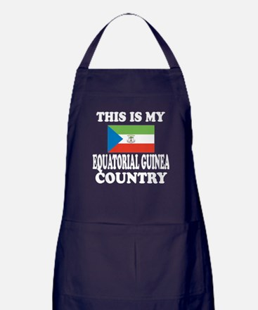 This Is My Equatorial Guinea Country Apron (dark)