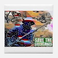 Overton Park SAVE THE GREENSWARD Tile Coaster