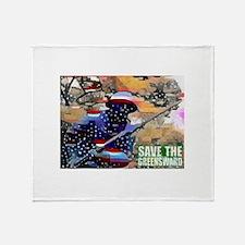 Overton Park SAVE THE GREENSWARD Throw Blanket