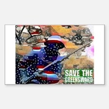 Overton Park SAVE THE GREENSWARD Decal