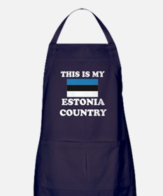 This Is My Estonia Country Apron (dark)