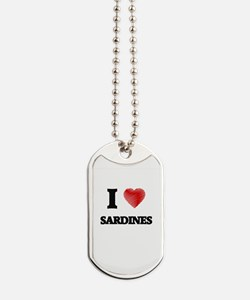 I Love Sardines Dog Tags