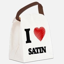 I Love Satin Canvas Lunch Bag