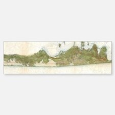 Vintage Map of The Hamptons (1857) Bumper Bumper Bumper Sticker