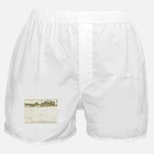 Vintage Map of The Hamptons (1857) Boxer Shorts