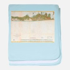 Vintage Map of The Hamptons (1857) baby blanket