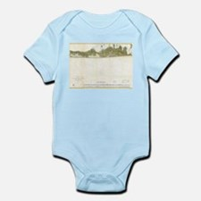 Vintage Map of The Hamptons (1857) Body Suit