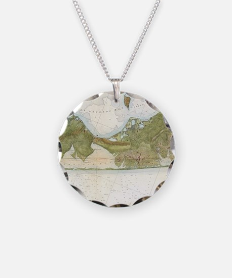 Vintage Map of The Hamptons Necklace