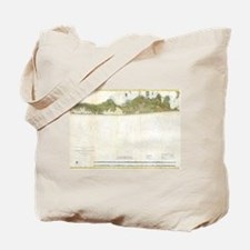 Vintage Map of The Hamptons (1857) Tote Bag