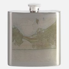 Vintage Map of The Hamptons (1857) Flask