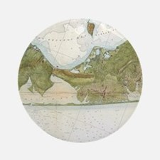 Vintage Map of The Hamptons (1857) Round Ornament