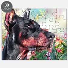Doberman Painting Puzzle