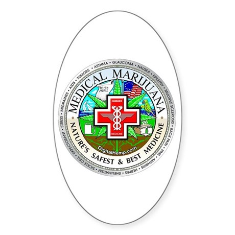 Medical Marijuana Sticker (Oval)