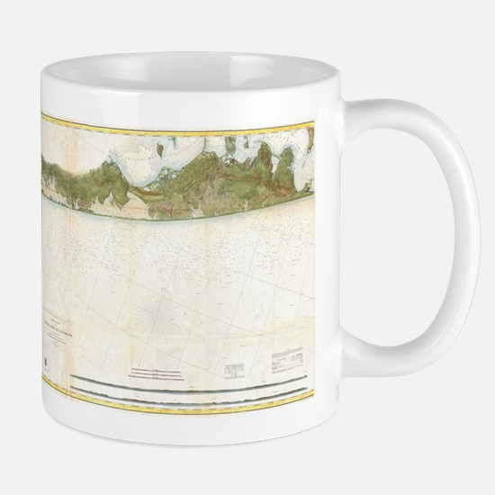 Vintage Map of The Hamptons (1857) Mugs